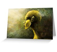 Alien in Yellow -Road of the Dessert Greeting Card