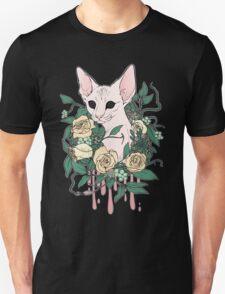 Light Floral Feline Unisex T-Shirt