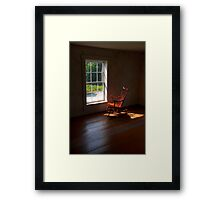Waiting for the Captain to Come Home Framed Print