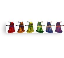 The Grateful Daleks (No Text) Metal Print