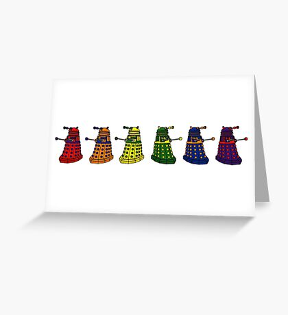 The Grateful Daleks (No Text) Greeting Card