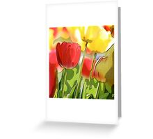 Vibrant Tulips Greeting Card