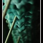 blue shapes in macro by aruni