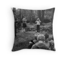 School Holiday, North Wales Throw Pillow