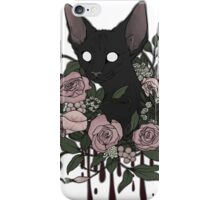 Dark Floral Feline iPhone Case/Skin