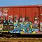 PAINTED RAILWAY TRAINS & BUILDINGS & VEHICLES Must have Graffiti all over them)