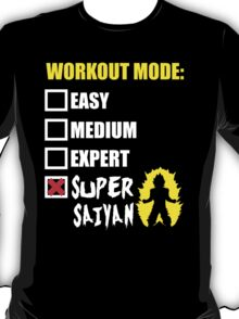 Workout Mode - Super Saiyan T-Shirt