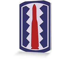 """197th Infantry Brigade """"Sledgehammer"""" (United States Army) Greeting Card"""