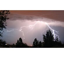 Colorado Lightning Storm #2 - Colorado Springs Photographic Print