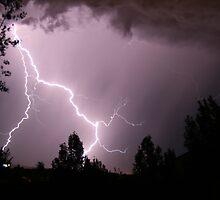 Colorado Lightning Storm #5 - Colorado Springs by Cari Graves