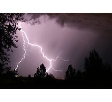 Colorado Lightning Storm #5 - Colorado Springs Photographic Print