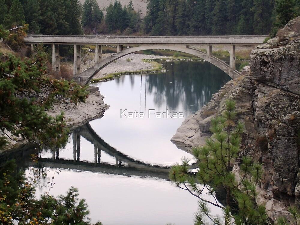 Bridge at Post Falls, Idaho by Kate Farkas