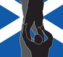 rugby player catching line out ball Scotland flag Sticker