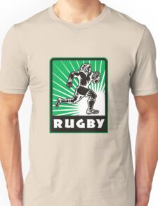 rugby player running with ball Unisex T-Shirt