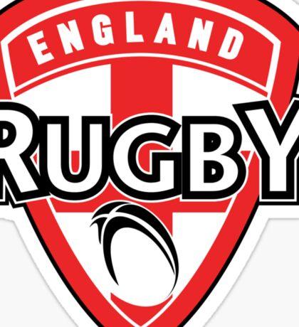 England rugby ball shield flag Sticker
