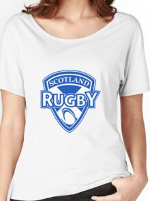Scotland rugby ball and shield Women's Relaxed Fit T-Shirt
