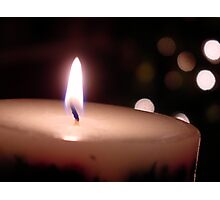 Holiday Candle Photographic Print