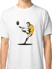 rugby player running kicking ball  Classic T-Shirt