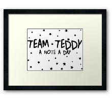#TEAM TEDDY Framed Print