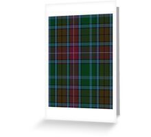00557 Buchanan Hunting (Mackinlay strip) Clan/Family Tartan  Greeting Card