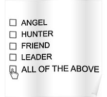 Castiel Checklist Poster