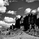 Superstition Mountain by Michael  Petrizzo