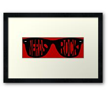 Nerds Rock Framed Print