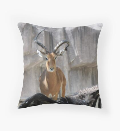 He looks mean! Throw Pillow