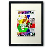 Psychedelic Horseradish Framed Print