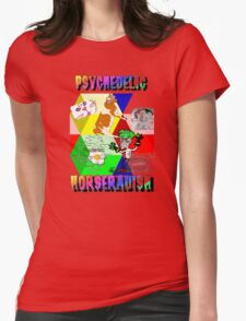 Psychedelic Horseradish Womens Fitted T-Shirt
