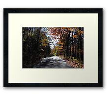 Another Country Road Framed Print