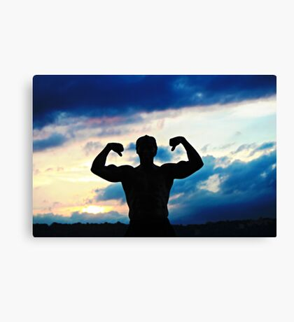 Muscle at Sunset Canvas Print