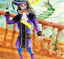 Peter Pan And Captain Hook by pinkyjainpan