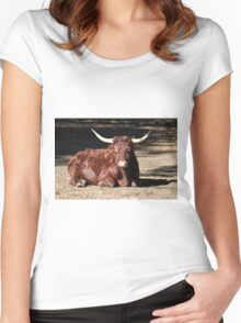 Bull Relaxing Women's Fitted Scoop T-Shirt