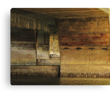 Cormortants Under The Waldport Ore. Bridge Canvas Print