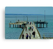On the Pier Canvas Print