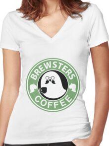 Brewster Travel Mug  Women's Fitted V-Neck T-Shirt