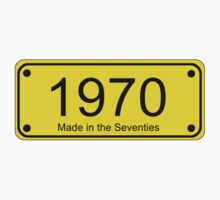 70s Number License Plate T-Shirt ~ 1970 ~ Born in the Seventies Clothing Kids Clothes