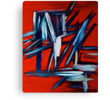 Abstract On Red Canvas Print