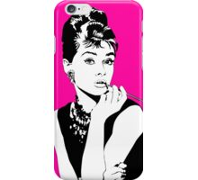 Audrey. (Pink) iPhone Case/Skin