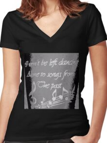 """Ella's Tattoo"" - B&W Clothing Women's Fitted V-Neck T-Shirt"