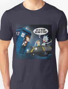 Rick and Morty Doctor Who Cross over T-Shirt