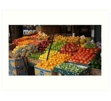Pike Place Fruit Stand Art Print