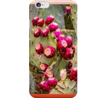 Prickly Pear Buds Framed iPhone Case/Skin