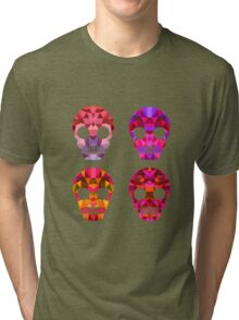 Skull Halloween Tri-blend T-Shirt