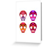 Skull Halloween Greeting Card