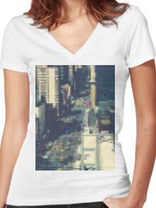 Pixel NYC Women's Fitted V-Neck T-Shirt