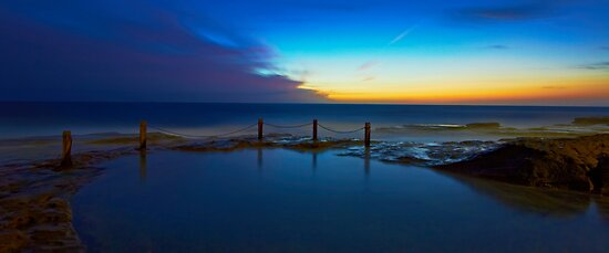 First Light - Ivo Rowe Pool  by Mark  Lucey