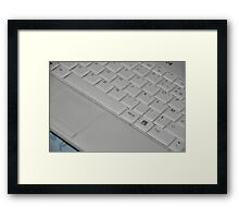 White Keyboard Framed Print