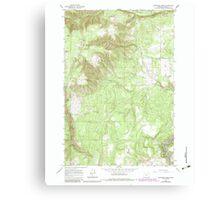 USGS Topo Map Oregon Partridge Creek 281048 1964 24000 Canvas Print